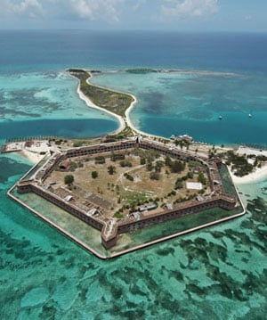 Dry Tortugas Fort Jefferson Aerial