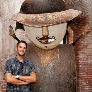 Michael Gieda Stanley Papio sculpture