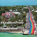 Key West 1.25-mile-long rainbow flag
