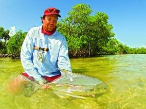 Florida Keys guide releasing fish