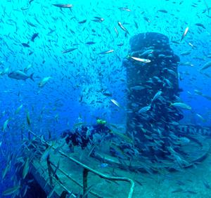 Divers on Vandenberg off Key West