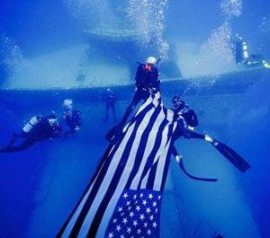 Vandenberg US flag divers off Key West