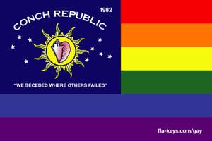 Conch Republic Rainbow Flag
