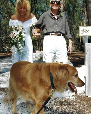 Florida Keys wedding Flower Dog