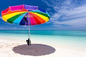 Beach Umbrella Dry Tortugas National Park