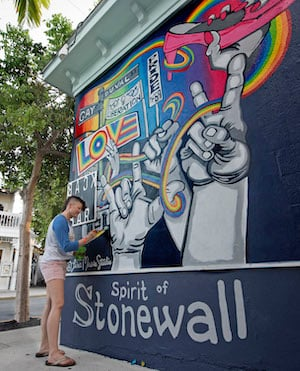 Spirit of Stonewall mural Key West