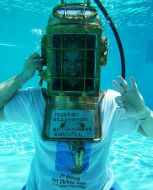 Miller-Dunn diving helmet