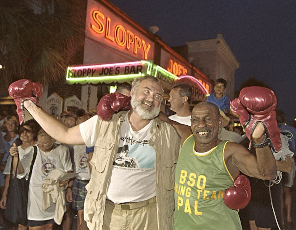 Boxing with Hemingway Look-Alike Key West