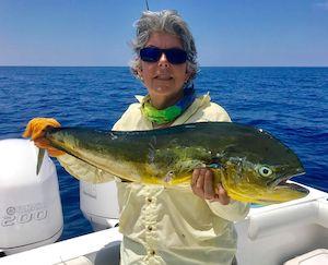 lady angler dolphin fish Florida Keys