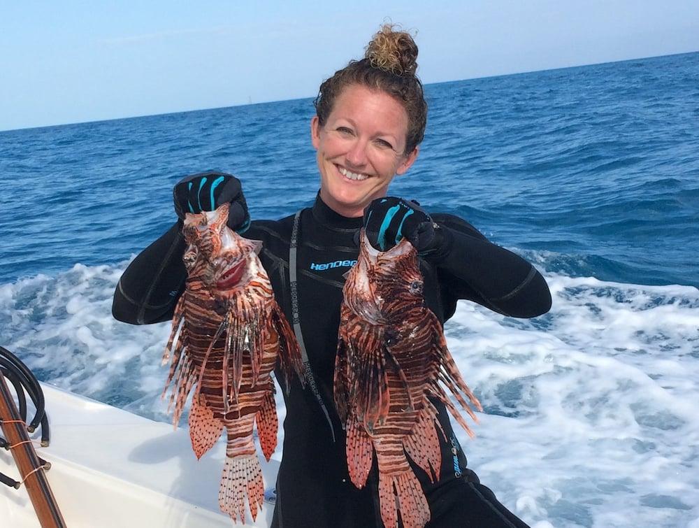 Rachel Bowman lionfish Florida Keys