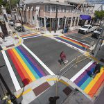 Key West rainbow crosswalks