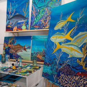 Upper Keys marine life artist studio