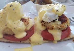 crab cake benedict Key West brunch