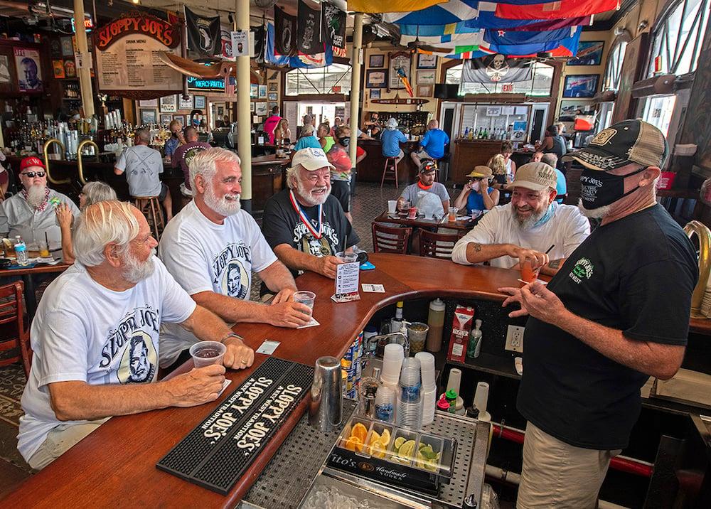 Hemingway Look-Alikes Key West Sloppy Joe's reopening
