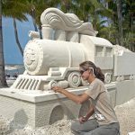 Sand sculpture Casa Marina Key West