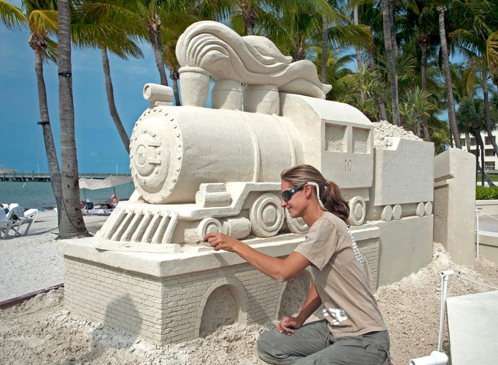 Sand sculpture Casa Marina Key West