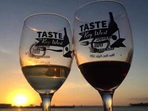 Taste of Key West wine at sunset