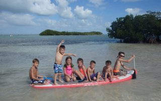 Florida Keys kids on a sandbar