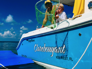 Charter boat and kid Key West