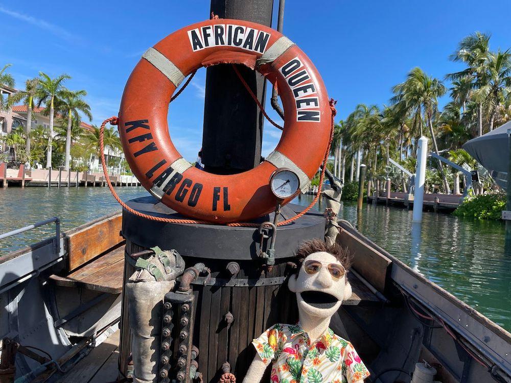 African Queen Key largo puppet