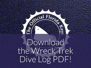 Florida Keys Wreck Trek logbook