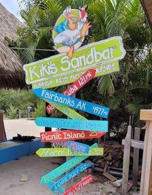 Signpost Lower Florida Keys restaurant