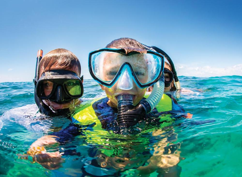 Kids snorkeling Florida Keys