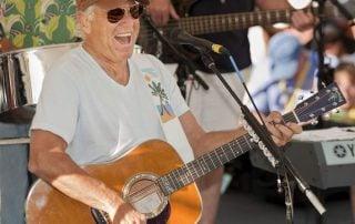 Jimmy Buffett onstage in Key West