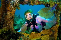 Amy Slate diving Florida Keys