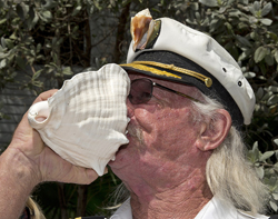 Conch Shell Blowing Contest 2015 winner