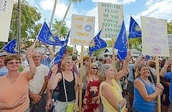 "Supporters chant ""Long live the Conch Republic!"""