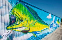 artist painting dolphin Islamorada