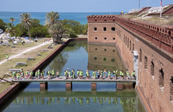 Mudd family enters Fort Jefferson Tortugas