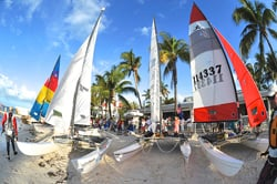 Key West Cuba Hobie Cats on beach