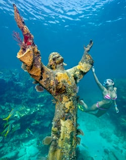 Pennekamp Christ of Deep snorkeler