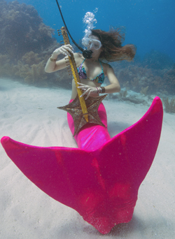 Underwater Music Festival mermaid