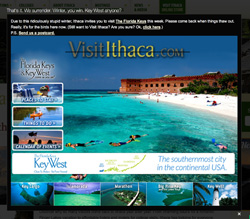 Visit Ithaca Keys website