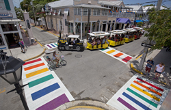 Conch Train and Key West Rainbow Crosswalks