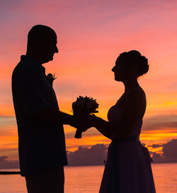 Key West sunset wedding