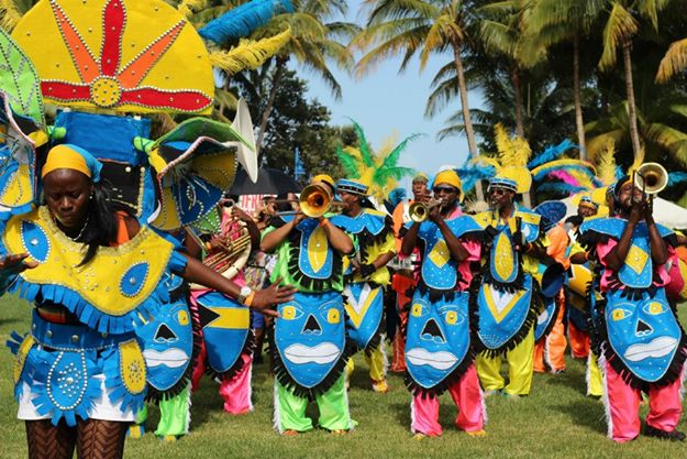 Junkanoo performers and a Junkanoo Rush of costumed marchers and dancers are an annual highlight.