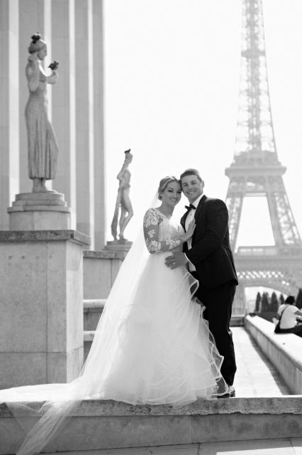 Karly and husband Mike celebrated their wedding in Paris.