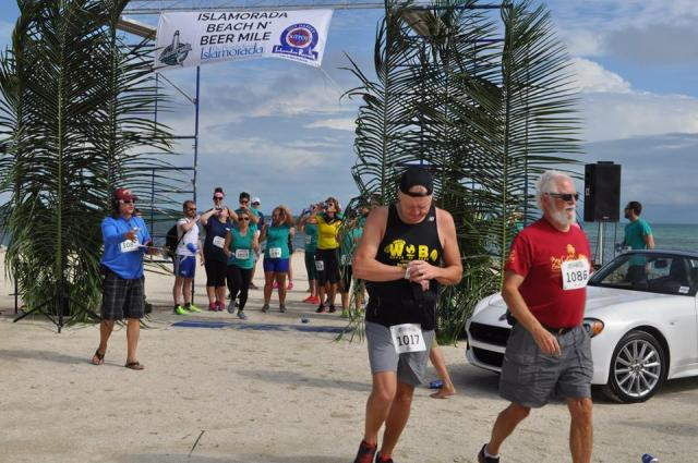 Runners in the Beach N' Beer Mile must consume four beers over a 1-mile course in Islamorada.