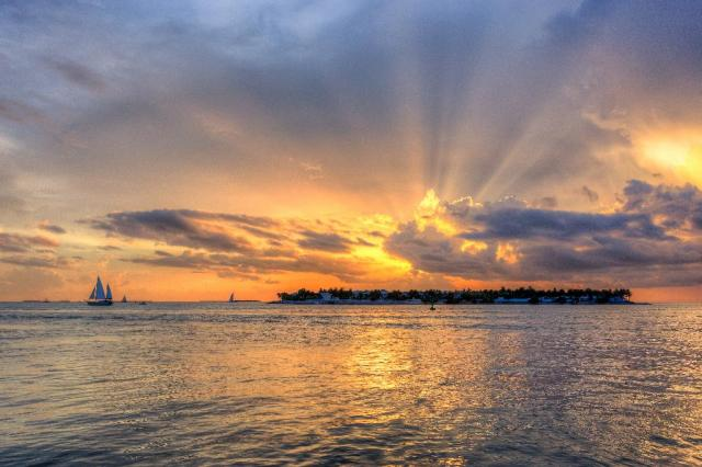 Key West sunset. Credit Laurence Norah