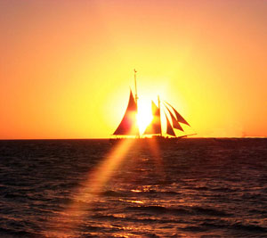Sunset sail off Key West. Credit FKNB