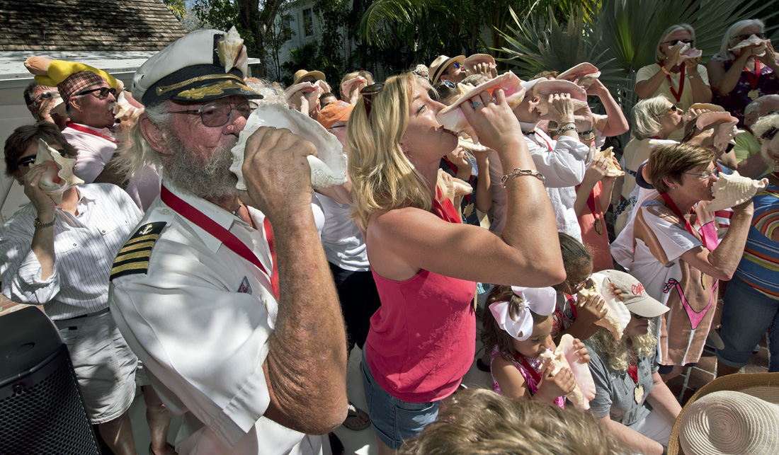 Conch Shell Blowing Contest