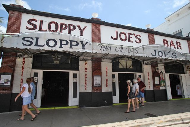 Sloppy Joe's was owned by Hemingway's good friend and fishing companion Joe Russell.