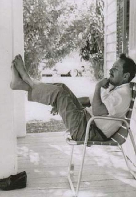 Internationally renowned playwright Tennessee Williams discovered Key West not long after Hemingway's departure.