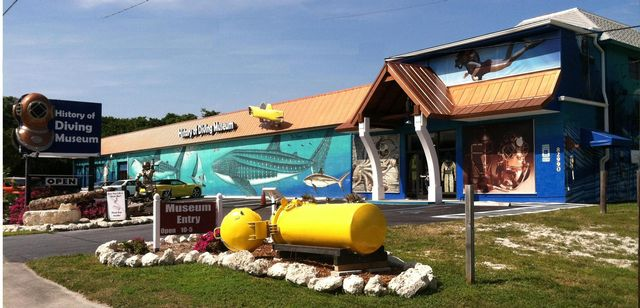Florida Keys History of Diving Museum is open daily from 10 a.m. to 5 p.m.