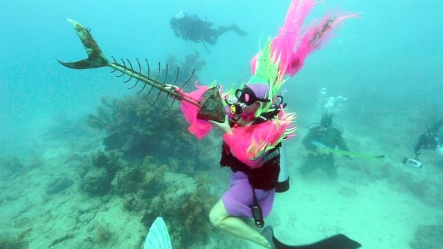 Underwater Music Festival in action. Credit Bob Care & Florida Keys News Bureau