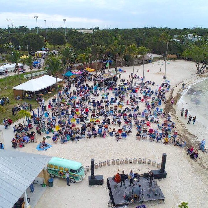 The weekend's main event, scheduled Sunday at Founders Park, features multiple stages, for beachside listening.